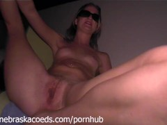 Tiniest Blonde Girl with Tiny Tits Gaping Stretching and Finger Fucking WOW