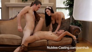 Nubiles Casting - Teen cutie tries hardcore porn  ass beauty blowjob cumshot tattoo small tits skinny hardcore petite latina cute orgasm pussy licking bubble butt audition girlongirl nubiles casting.com