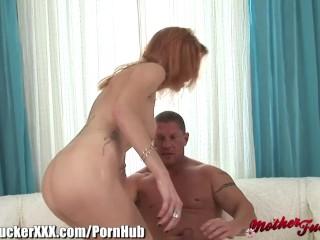 MotherFucker Redhead MILF Banged and Creampied