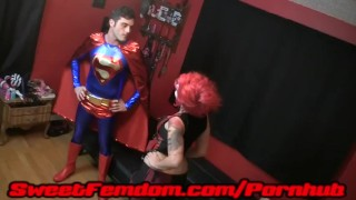 Harley Fucks Superman  pegging strapon femdom kink kinky anal sweetfemdom female domination superhero cosplay superman supervillainess harley quinn