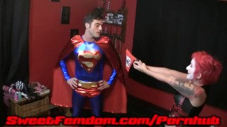 Harley Fucks Superman  pegging strapon cosplay femdom superhero kink kinky anal sweetfemdom female domination superman supervillainess harley quinn