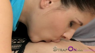 StrapOn Two sexy lesbians fucking each other with purple strapon  strap on ass kissing dildo lesbians sexy small tits orgasms czech romantic pussy eating natural tits girl on girl bubble butt sex toy strapon.xxx