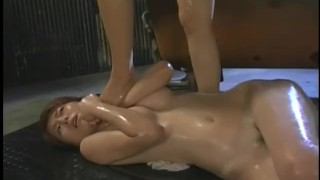 Japanese FemDom Dominates Lesbian Submissive With Face Sitting And Oil Sex  lesbian foot oiled sex lesbians femdom asian domination kink orgasms kinky japanese trampling girl on girl lesbian mistress forbiddeneast girl girl