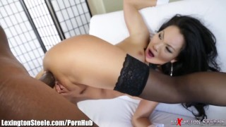Asa Akira Fucked by 11 Inch Black Cock in Ass bbc gaping swallow sexy asian black big tits blowjob cumshot deepthroat lexingtonsteele.com tattoo japanese interracial tattoos stockings skinny big dick facial