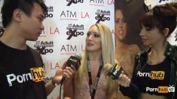 PornhubTV AJ Applegate Interview at 2014 AVN Awards