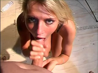 Curvy brunette in white stockings gets her ass penetrated by a horny dude - Title on the code
