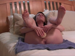 Nikki's Pretty Feet Up In The Camera While Masturbating