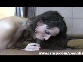 hot milf mom brunette make a blowjob and ride a big black cock interracial