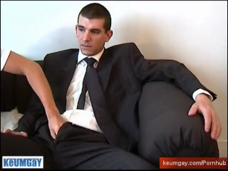 Suite trouser guy with huge cock !