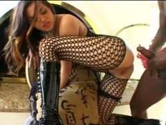 Lex fucks a girl in fishnet and boots