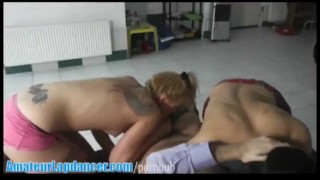 Threesome with naughty lapdancers
