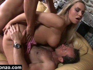 Sandwhiched By Two Dicks And Filled With Cum