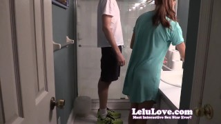Lelu Love-Helping Him Pee SPH  homemade hd humiliation femdom amateur sph cfnm lelu fetish domination brunette peeing natural tits clothed 1080p lelu love