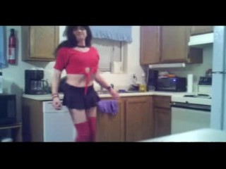 Robin Ashley Transsexual in kitchen