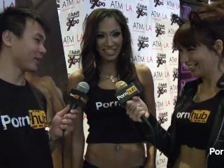 PornhubTV Sadie Santana Interview at 2014 AVN Awards