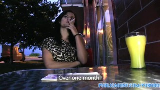 PublicAgent Sexy brunette picked up from the bus and fucked outdoors  point of view publicagent amateur real camcorder sex for cash cumshot sex with stranger outdoors public outside pov reality czech sex for money