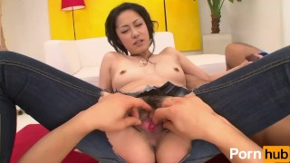 Bi Jeans Vol 20 - Scene 2  eating out hairy pussy creampie reverse cowgirl oral blowjob toys japanese 3some mmf threesome pussy licking natural tits jeans vibrators