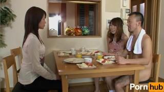 La Kazoku Dai ichiwa - Scene 1 sofa milf couch teen naked babe groping natural-tits japanese brunette games nude breakfast family group