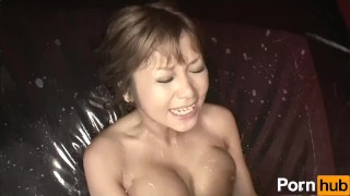 Lotion Ero Dance - Scene 1 sucking 69 handjob lotion blowjob licking vibrator japanese oil big-tits brunette titty-fuck pussy-licking pole dancing rubbing