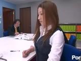 セリナ ミニスカート制服のOLが巣内セクハラでフェラさせられ接待ではミニスカートのスーツでリモコンバイブで遊ばれ中出しされる