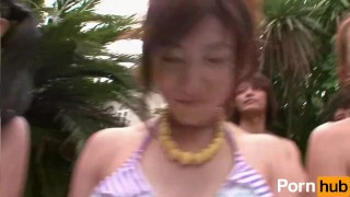 Summer Girls 2010 Vol 1 Doki Onna Darake no Ero Bikini Taikai - Scene 3  sucking dick small dick raven outdoors bikini handjob fingering orgasm pornhub.com pool blowjob race contest cum in mouth squirt