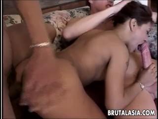 Lyla Lei gets slammed by some big dudes