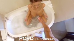 POVD Titty fuck in bath leads