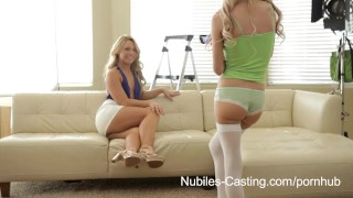 Preview 1 of Nubiles Casting - Will a mouthful of cum get her the job?