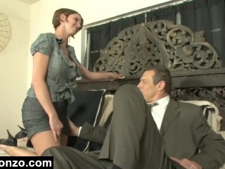 Busty Personal Accountant Cheats On Her Husband