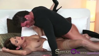 StrapOn Rachel Evans taking much delight in pegging a man  strap on ass fuck female orgasms ass fucking natural strapon kissing dildo sensual orgasms czech babes romantic natural tits oral sex sex toy female friendly