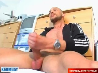 My hands on your huge cock.