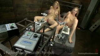 Epic Cumming From Sex Machines  big tits robot machine squirt dildo blonde fetish kink kinky hitachi lesbian fuckingmachines sex orgasm pussy fuck girl on girl