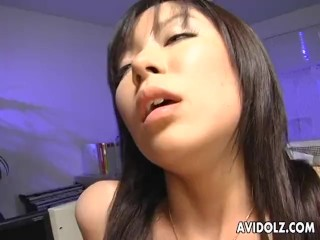 Horny slut Satomi Maeno fucked by two dudes uncensored