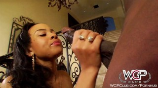 WCPClub Ebony Busty and Juicy Booty Babe fucked by BBC piercings big cock young black big tits blowjob teens cumshot ebony teen wcpclub tattoos cum on tits carwash pornstars doggystyle