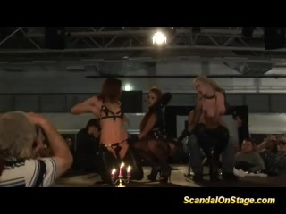 bdsm scandal on stage with a privat person