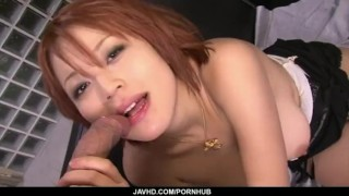 Filthy redhead Asian babe showing off her sexy ass and big tits  mother sexy lingerie tit squeezing hot milf high heels redhead javhd mom busty