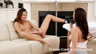 Nubiles Casting - Squirting asian teen really wants this job  teen babe asian tattoo casting hardcore young squirting cumshots sloppy-blowjob petite nubiles-casting bubble-butt small-tits rough-sex orgasm interview