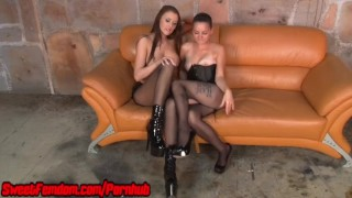 Alexis Grace and Michelle Peters Dominate You FEMDOM STRAPON BALLBUSTING  big tits pegging strapon femdom ffm pov fetish handjob kinky compilation sweetfemdom hj female domination hand job