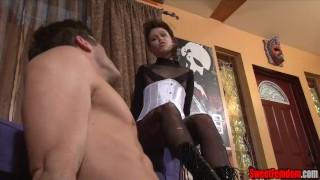 Bailey Paige in femdom ballbusting scene femdom cbt panties sissy kink kinky emasculation sweetfemdom ballbusting