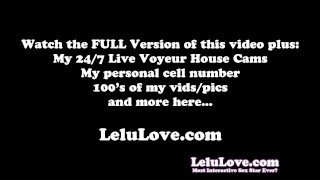 Lelu Love-Catsuit Financial Domination Cuckolding denial domination homemade catsuit femdom amateur solo lipstick lelu tease cuckolding pov brunette fetish hd humiliation
