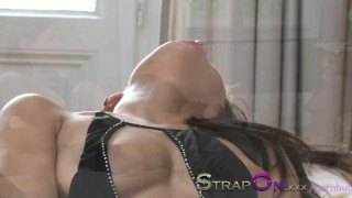StrapOn His ass is fucked by his beautiful girl