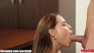 Throated Satin Bloom's EXTREME DEEPTHROAT scene!