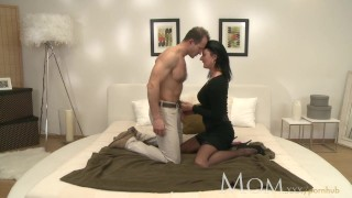 MOM Horny MILF makes her man cum twice