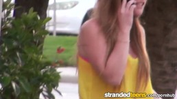 Stranded Teens- Cute redhead stranded teen gets a lift and some dick