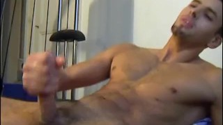 Middle-east guy (arab) gets wanked his big cock by a guy in spite of him !