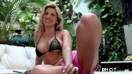 Hotgold Brazilian blonde babe fucked hard
