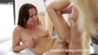 Preview 5 of Nubiles Casting - 18 yr old cutie desperate to be a pornstar