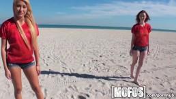 Mofos - Sexy beach babes strip