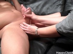 My stepmom slippery handjob