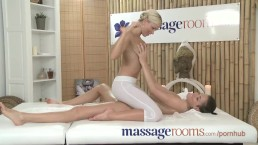 Massage Rooms Adorable and tight young teens have intense lesbian encounter